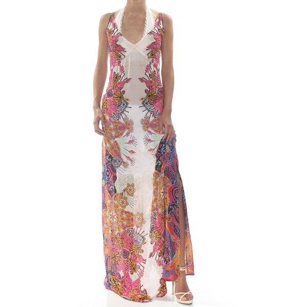 ca48e5c896 FREE PEOPLE Womens Ivory Wildflower Print Sleeveless V Neck Maxi Party  Dress Size: XS