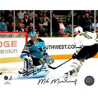 Mike Modano Signed Dallas Stars Goal vs Sharks 8x10 Photo