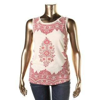Lucky Brand Womens Cotton Sleeveless Tank Top