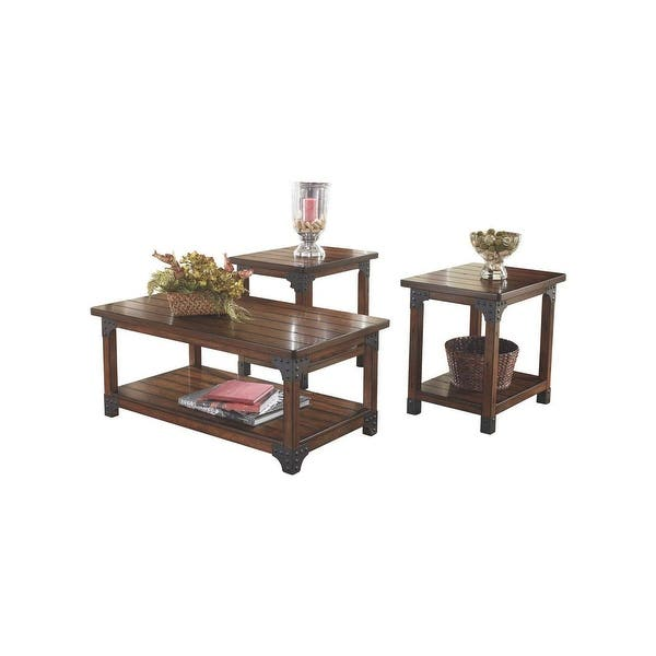 Ashley T352 13 Set Of 3 Murphy Medium Brown Occasional Table W Hand