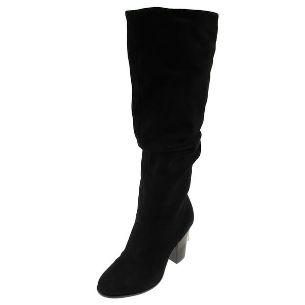 Steve Madden Womens Nevadaaa Knee-High Boots Suede Slouchy