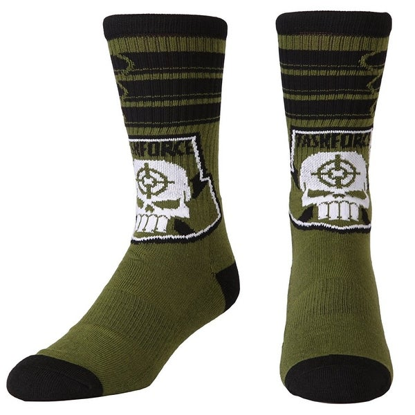 Suicide Squad Task Force X Unisex Crew Socks - Green