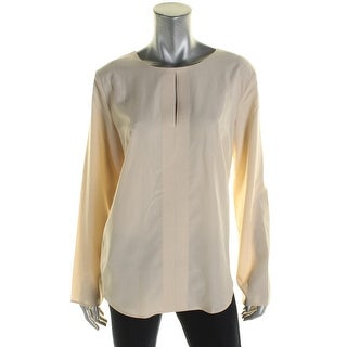 Lauren Ralph Lauren Womens Tunic Top Solid Keyhole