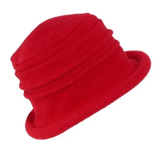 Dorfman Pacific Women's Wool Classic Packable Cloche Hat - One size