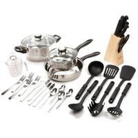 Gibson 89117.32 Lybra Cookware Combo Set, 32 Pc.