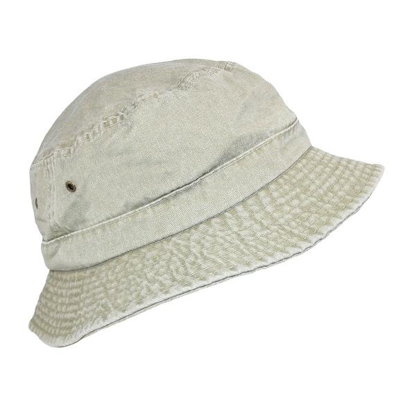 Dorfman Pacific Cotton Packable Summer Travel Bucket Hat