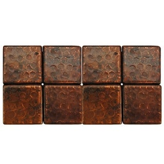 Link to 2-inch x 2-inch Hammered Copper Tile (Set of 8) Similar Items in Tile