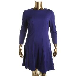 Lauren Ralph Lauren Womens Long Sleeves Fit & Flare Wear to Work Dress