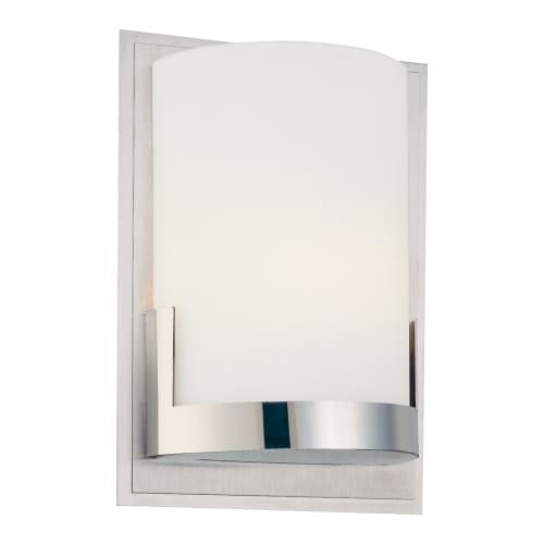 """Kovacs P5951 Convex Single Light 5"""" Wide Bathroom Sconce with Etched Opal Shade - ADA Compliant"""