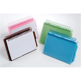 Esselte Corporation View Front Spiral Index Cards 4X6 Poly Cover