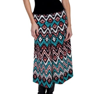 Scully Western Pants Womens Geo Rollover Waist Wide Leg Gaucho E200 - M