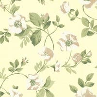 Brewster 344-68721 Dorothea Yellow Dog Rose Trail Wallpaper - N/A