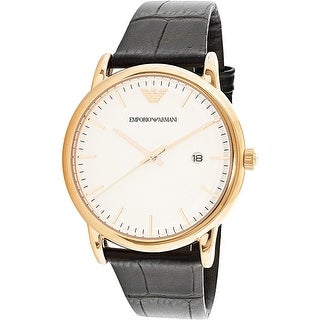 Emporio Armani Men's AR2502 Rose-Gold Leather Quartz Dress Watch