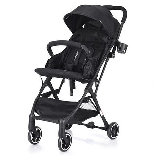 Costway Foldable Baby Stroller Lightweight Kids Carriage Pushchair W/ Foot Cover Black