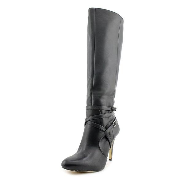 INC International Concepts Womens Taigi Wide Calf Fabric Pointed Toe Knee Hig...