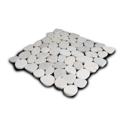 Miseno MT-S3PWH Flatten Pebble Natural Stone Mosaic Tile (10.12 SF / Carton)