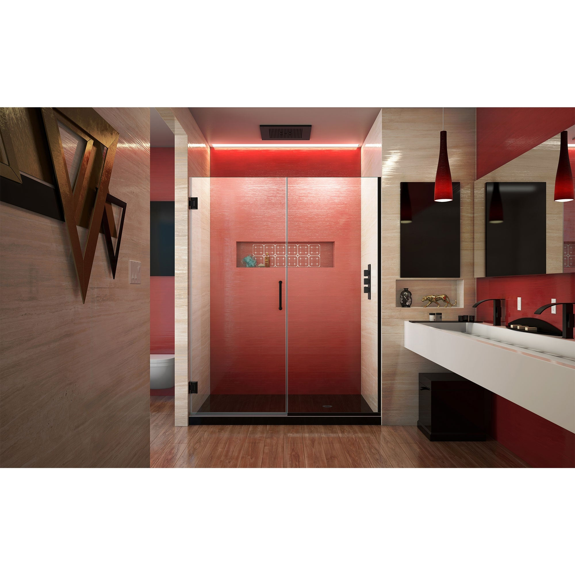 Dreamline Unidoor Plus 58 58 1 2 In W X 72 In H Frameless Hinged Shower Door 58 58 5 W 58 58 5 W Overstock 9128846