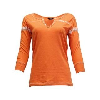 Cowgirl Tuff Western Shirt Women 3/4 Sleeves Henley Mango S00726
