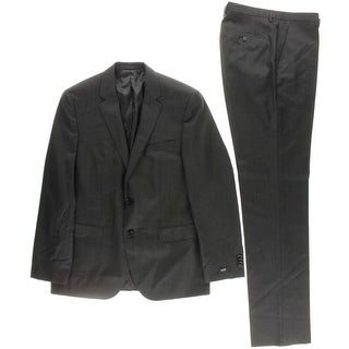 BOSS Hugo Boss Mens Wool 2PC Two-Button Suit - 40R