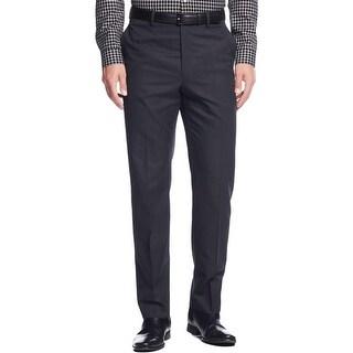 Calvin Klein Mens Dress Pants Slim Fit Pindot