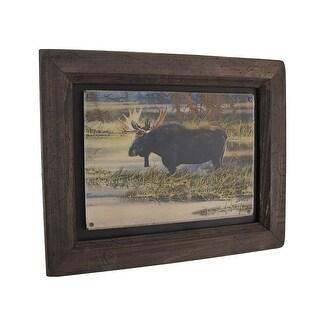 Big Sky Carvers North American Moose Wood Frame Wall Art - brown