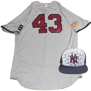 Anthony Swarzak New York Yankees 2016 Stars and Stripes Game Used 43 Jersey and Hat Set