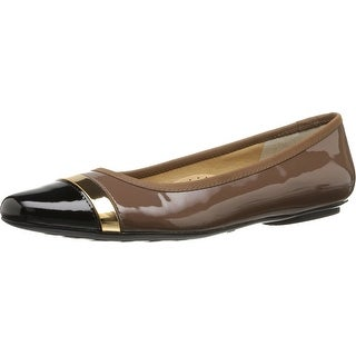 Vaneli NEW Brown Womens Shoe Size 7N Sebelie Patent Leather Flats