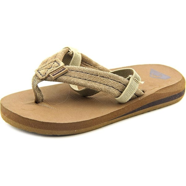 Quiksilver Carver Toddler Open Toe Suede Tan Thong Sandal