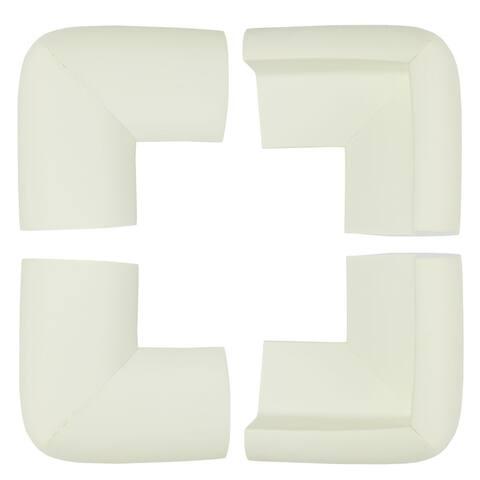 4 Pack Foam Furniture Table Desks Edge Cover Pads Protectors Corner Cushions Bumper Guards White - 4pcs