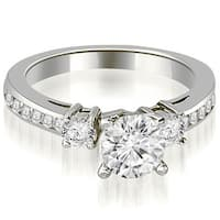 1.10 cttw. 14K White Gold Round Cut Diamond Engagement Ring