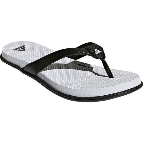 Shop adidas Women's Cloudfoam One Y Thong Sandal BlackBlack