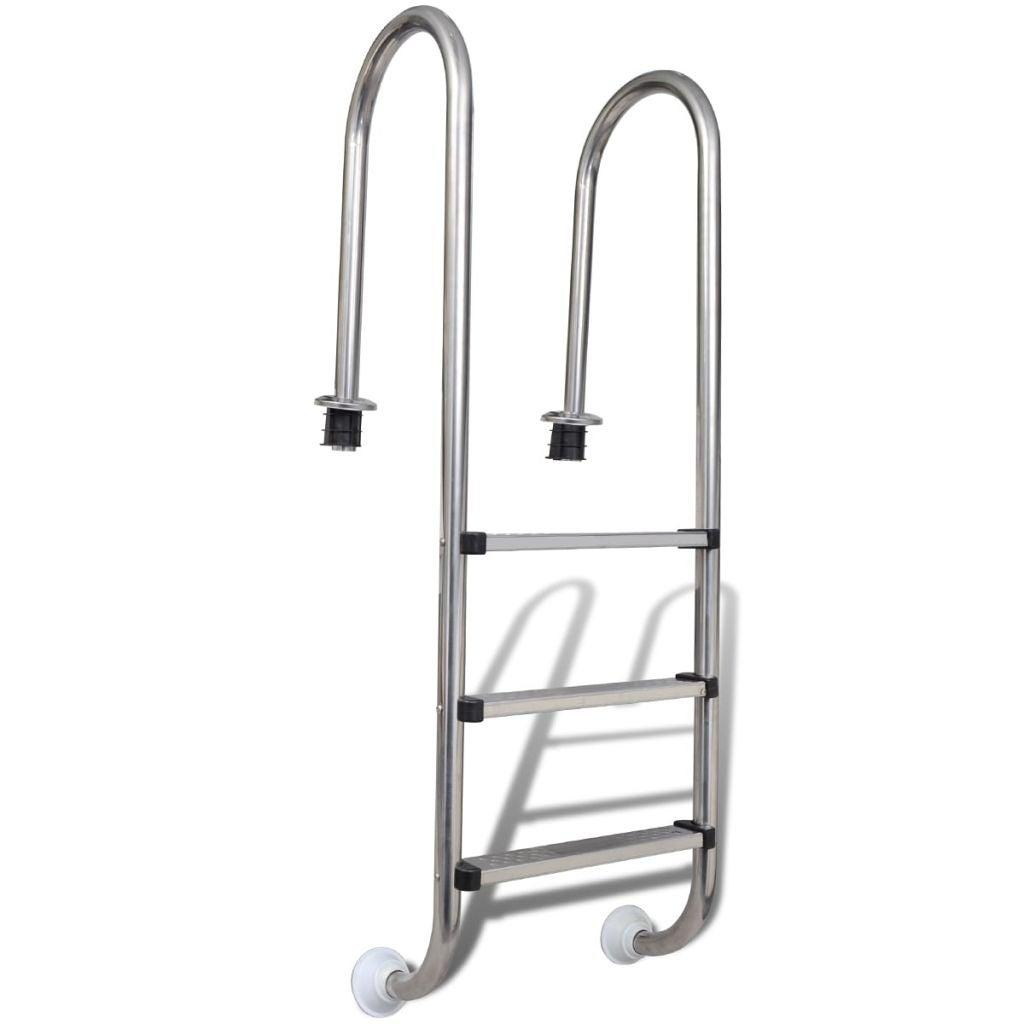 vidaXL Pool Ladder w/ 3 Non-slip Steps Stainless Steel 47.2\