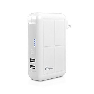 Siig (Ac-Pw0y12-S1) 3-In-1 Usb Power Bank Charger - White Wall Charger / Car Charger / Power Bank Charging Combo Simult