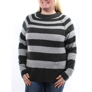 Womens Gray Long Sleeve Turtle Neck Casual Sweater Size M
