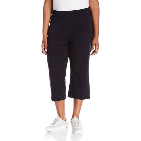 Jockey Women's Slim Capri Flare, Deep Black, SZ Medium