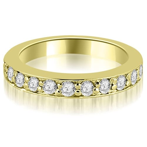 0.55 cttw. 14K Yellow Gold Round Cut Diamond Wedding Band