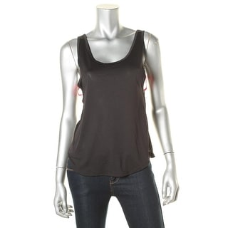 Material Girl Womens Juniors Layered Look Side-Cur Tank Top - XS
