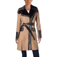 Via Spiga Womens Midi Coat Winter Wool Blend