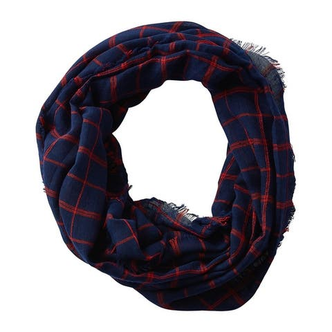 Tickled Pink Lightweight Plaid Infinity Scarf