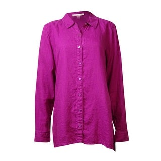 Eileen Fisher Women's Button-Up Organic Irish Linen Work Shirt - xs