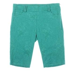 Catherine Malandrino Womens Jacquard Stretch Bermuda Shorts - 4