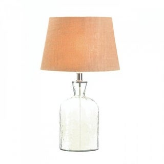 Hammered Glass Jug Lamp - Clear