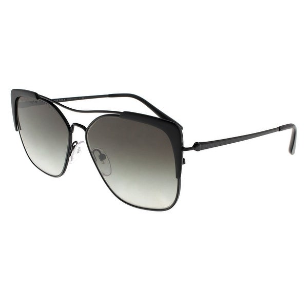 d8e46ced5c Prada PR54VS 2640A7 CONCEPTUAL Black Matte Black Rectangle Sunglasses -  58-14-140