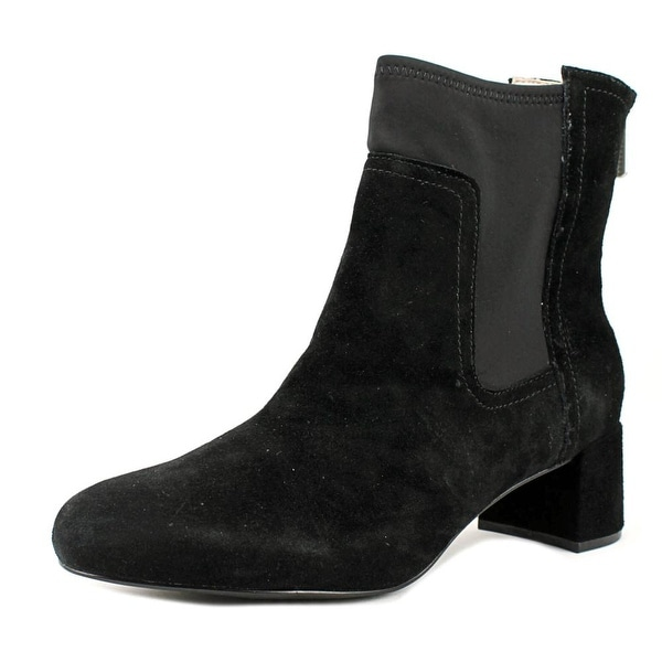 Taryn Rose Louise Women Round Toe Synthetic Black Ankle Boot
