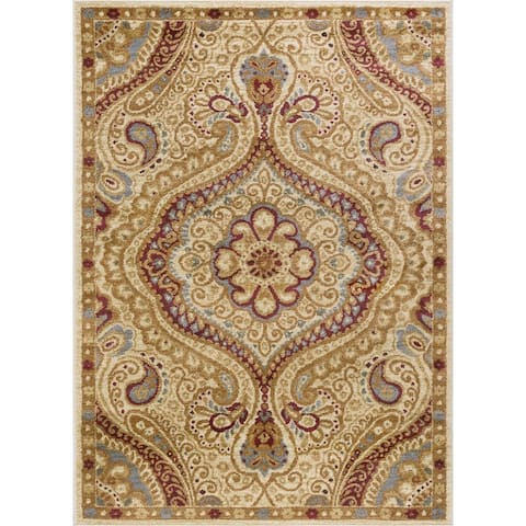 Alise Rugs Rhythm Transitional Paisley Area Rug