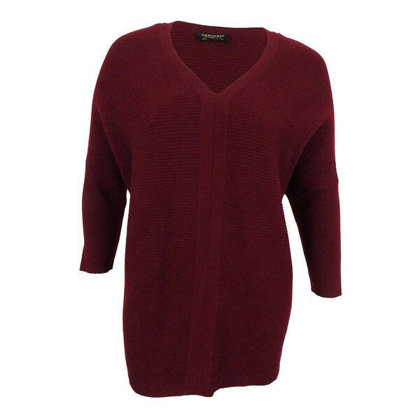 Charter Club Women's Plus Size Cashmere Textured Sweater (2X ...