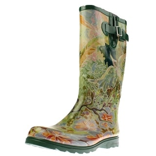 Nomad Womens Puddles III Rubber Floral Print Rain Boots