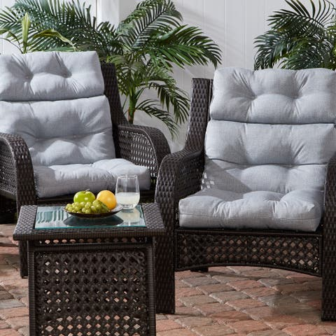 Outdoor 22-inch x 44-inch High Back Chair Cushion (Set of 2)