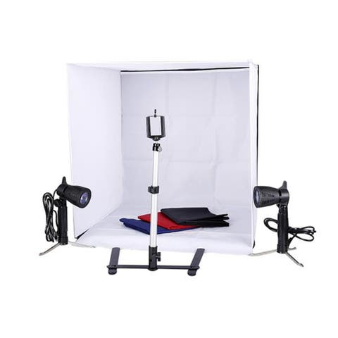 Kshioe 60cm Shelves Mini Studio Set Black & White & Red & Blue