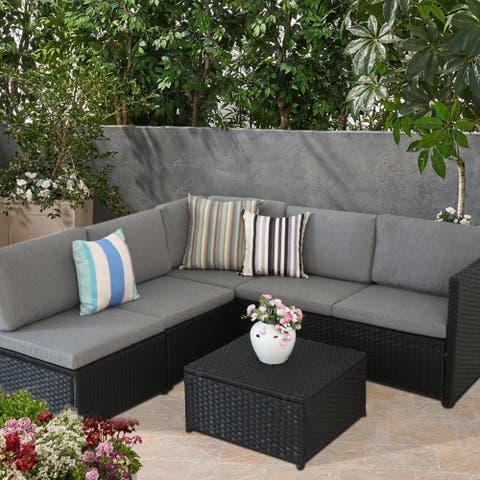 Outdoor Furniture 5-Seater PE Rattan Sectional Sofa set